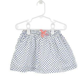 Oshkosh B'gosh White & Blue Polka Dot Skirt